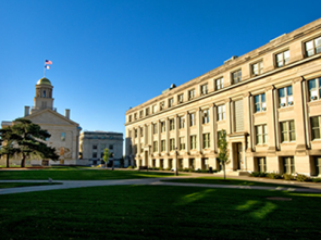 Photo of Jessup Hall and Old Capital buildings